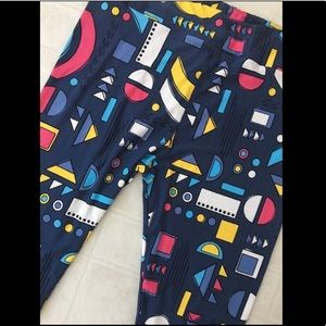 LuLaRoe TC2 Blue Aztec with Geometric Shapes